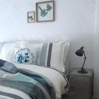 Behang Bamboo in zilver op wit