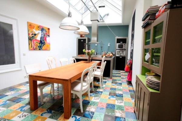 Keuken met glazen dak