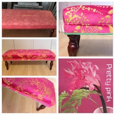 Footstool roze