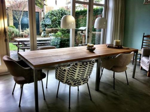 Kantoorstoelen worden eetkamerstoelen