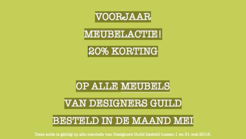 Mei: 20% korting op Designers Guild meubelen