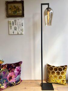 Glazen lampen vloerlamp